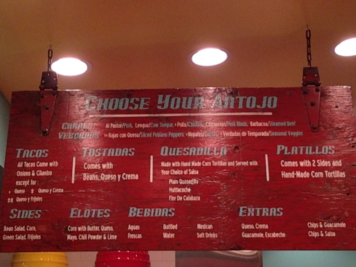 Authentaco, Chicago, Tacos, Review, Menu